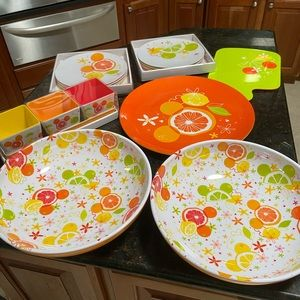 Disney fruit design pattern plastic dishes